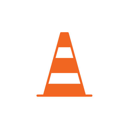 Pylon, traffic cone icon vector, filled flat sign, solid colorful pictogram isolated on white. Symbol, logo illustration. Pixel perfect