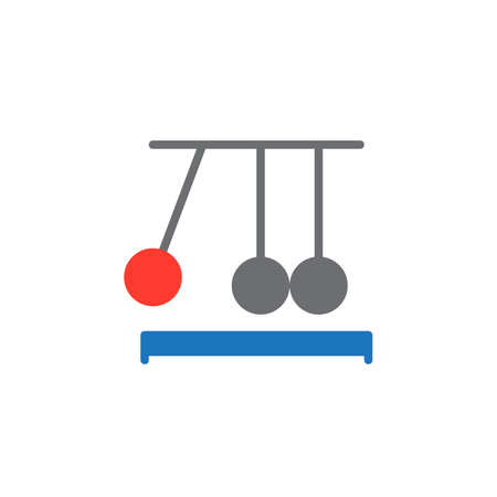 clicker: Newtons cradle icon vector, filled flat sign, solid colorful pictogram isolated on white. Executive ball clicker symbol, logo illustration. Pixel perfect