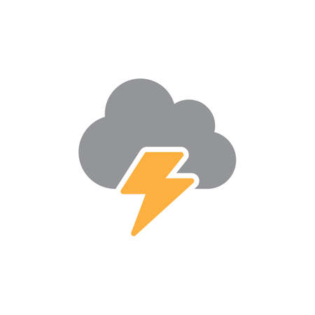pixel perfect: Cloud, lightning icon vector, filled flat sign, solid colorful pictogram isolated on white. Symbol, logo illustration. Pixel perfect