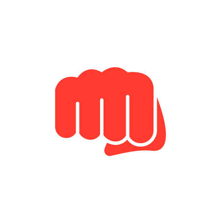 Fist, forward punch icon vector, filled flat sign, solid colorful pictogram isolated on white. Symbol, logo illustration Иллюстрация