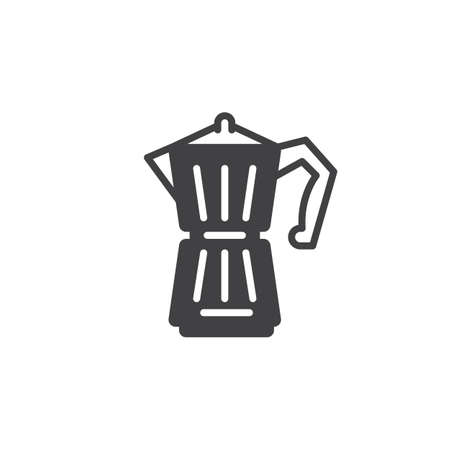 Geyser Coffee Maker icon vector, filled flat sign, solid pictogram isolated on white. Symbol, logo illustration