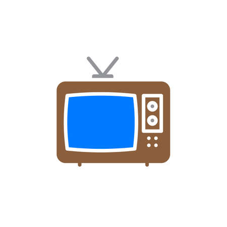 tv unit: Television icon vector, filled flat sign, solid colorful pictogram isolated on white. Cable TV symbol, logo illustration