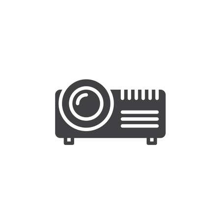 Projektor cyfrowy wektor, wypełniony znak płaski, stałe piktogram na białym tle. Symbol, ilustracja logo