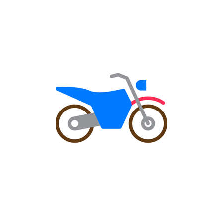 Dirt bike icon vector, motorcycle filled flat sign, solid colorful pictogram isolated on white, logo illustration