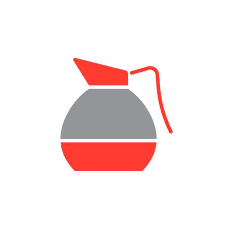 decanter: Coffee Decanter icon vector, solid flat sign, colorful pictogram isolated on white, logo illustration