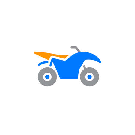 Quad bike icon vector, filled flat sign, solid colorful pictogram isolated on white, logo illustration Illustration