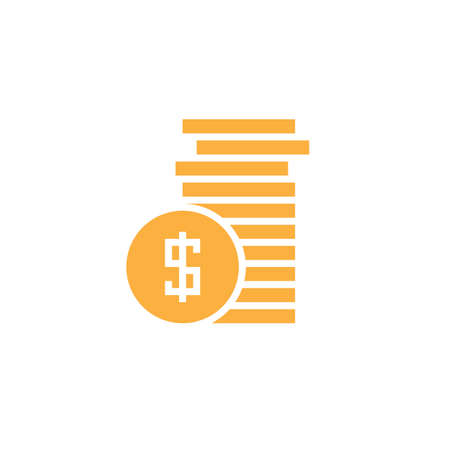 coins icon vector, money solid logo, pictogram isolated on white, pixel perfect color illustration