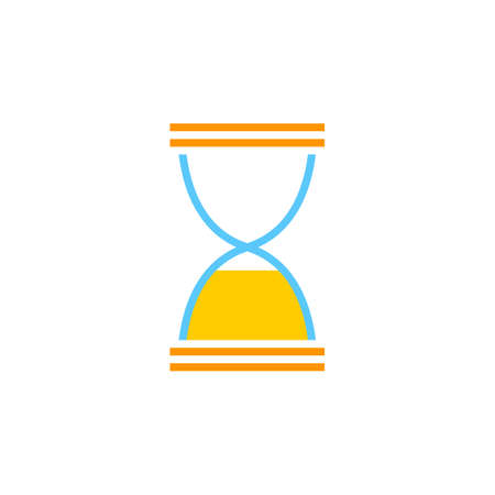 solid: Hourglass end icon vector, sandglass solid logo illustration, colorful pictogram isolated on white