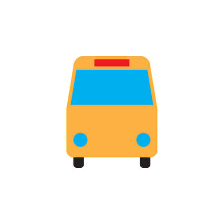 Bus icon vector, solid logo illustration, colorful pictogram isolated on white
