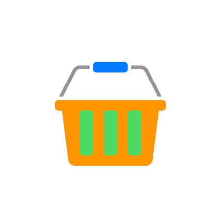 Shopping basket icon vector, solid logo illustration, colorful pictogram isolated on white