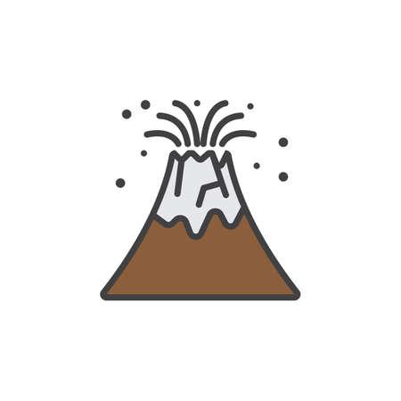 Volcano eruption line icon filled outline vector sign linear vector volcano eruption line icon filled outline vector sign linear colorful pictogram isolated on white logo illustration maxwellsz