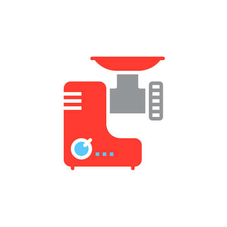 meat grinder: Meat grinder icon vector, electric mincer solid flat sign, colorful pictogram isolated on white, logo illustration