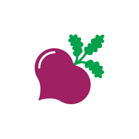 Beet, beetroot icon vector, filled flat sign, solid colorful pictogram isolated on white, logo illustration Illusztráció