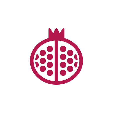 filled: Pomegranate icon vector, filled flat sign, solid colorful pictogram isolated on white, logo illustration