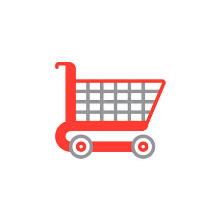 Shopping cart icon vector, filled flat sign, solid colorful pictogram isolated on white, logo illustration Illustration