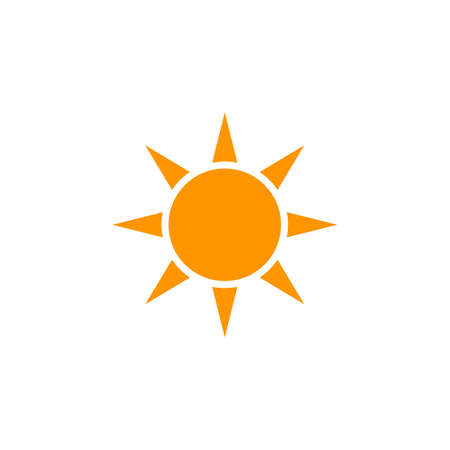 Sun icon vector, solid logo illustration, colorful pictogram isolated on white Illustration