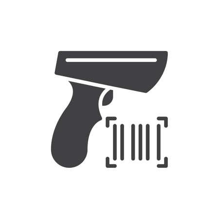 Barcode scanner vectoriel d'icônes, signe plat rempli, pictogramme solide isolé sur blanc. Symbole, illustration du logo. Pixel-parfait Banque d'images - 77956288