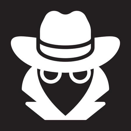 Spy, agent icon, vector illustration