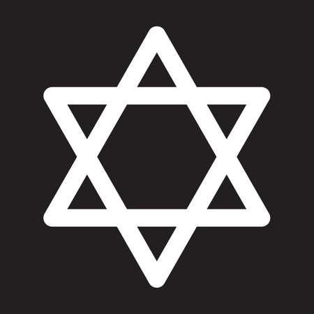 Star of David icon, vector illustration
