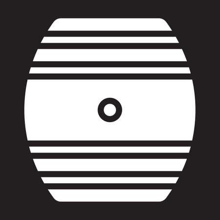 cask: Oak Cask icon, vector illustration