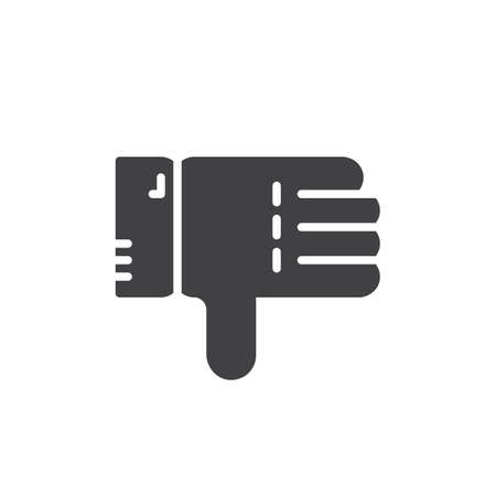 disapprove: Thumbs down icon vector, filled flat sign, solid pictogram isolated on white. Symbol, logo illustration. Pixel perfect