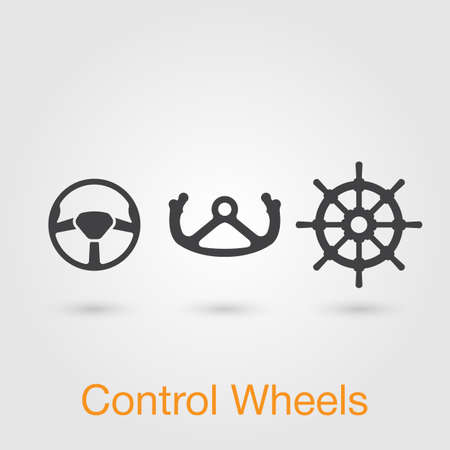 throttle: control wheel icon vector, solid illustration, pictogram isolated on gray