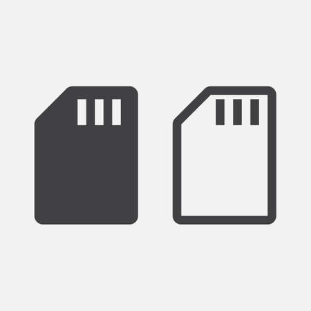 sd card: sd card icon Illustration