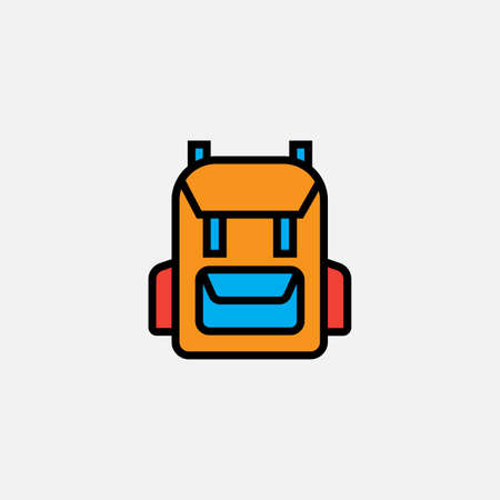 rucksack backpack icon Illustration