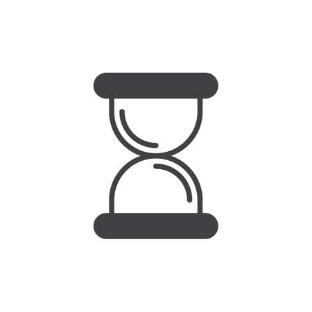 Hourglass, sandglass icon vector, filled flat sign, solid pictogram isolated on white. Symbol, logo illustration. Pixel perfect Illustration