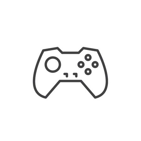 Gamepad line icon, outline vector sign, linear style pictogram isolated on white. Symbol, logo illustration. Editable stroke. Pixel perfect