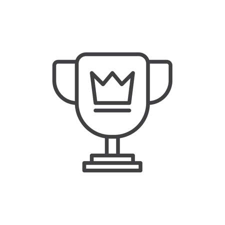 Winner Trophy Symbol Loving Cup With Star Line Icon Filled