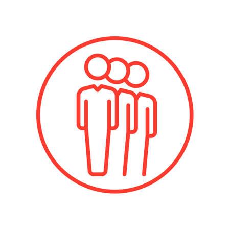 aligned: People queue line icon, vector illustration