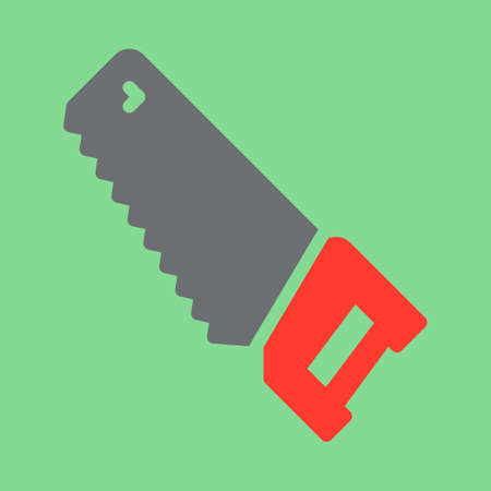 Hand saw icon vector, filled flat sign, solid colorful pictogram. Symbol, logo illustration