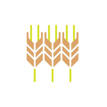 Wheat ear icon vector, filled flat sign, solid colorful pictogram. Symbol, logo illustration