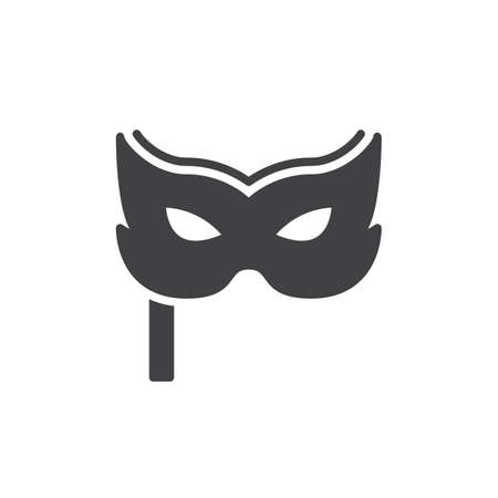 theatre masks: Carnival mask icon vector, filled flat sign, solid pictogram isolated on white. Masquerade symbol, logo illustration. Pixel perfect