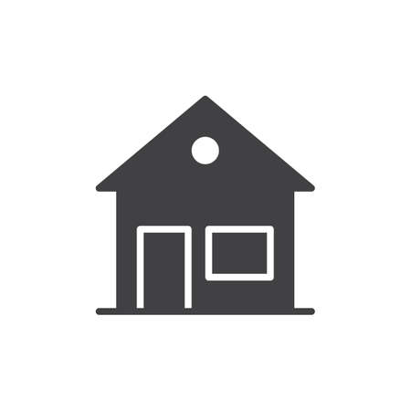 pixel perfect: Home, house icon vector, filled flat sign, solid pictogram isolated on white. Symbol, logo illustration. Pixel perfect