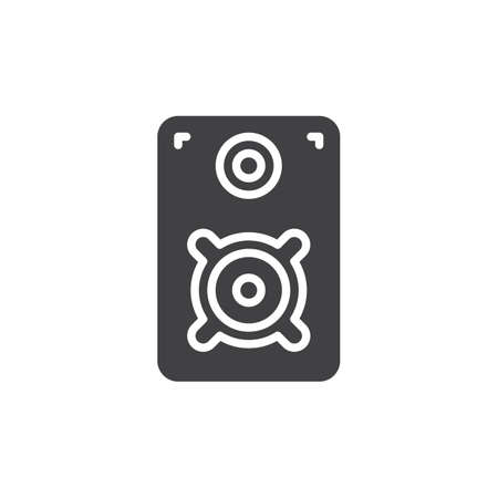 noisy: Loud speaker icon vector, filled flat sign, solid pictogram isolated on white. Symbol, logo illustration. Pixel perfect