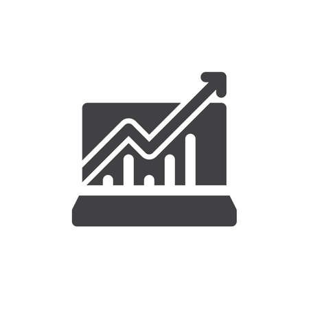 aligned: Statistics charts  icon vector, filled flat sign, solid pictogram isolated on white. Symbol, logo illustration. Pixel perfect Illustration