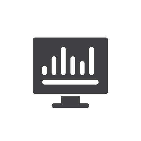aligned: Analytics bar graph icon vector, filled flat sign, solid pictogram isolated on white. Symbol, logo illustration. Pixel perfect Illustration