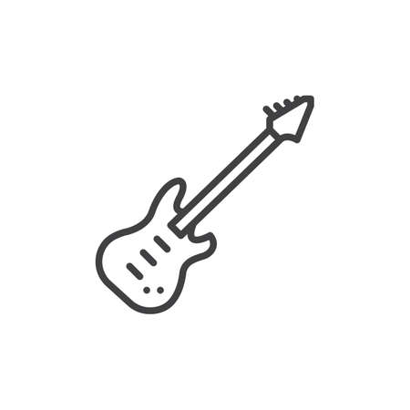 Electric Guitar Line Icon Outline Vector Sign Linear Style Royalty Free Cliparts Vectors And Stock Illustration Image 81920513