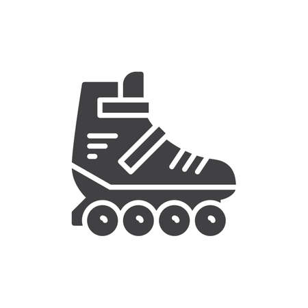 Roller skate icon vector, filled flat sign, solid pictogram isolated on white. Symbol, logo illustration. Pixel perfect graphics