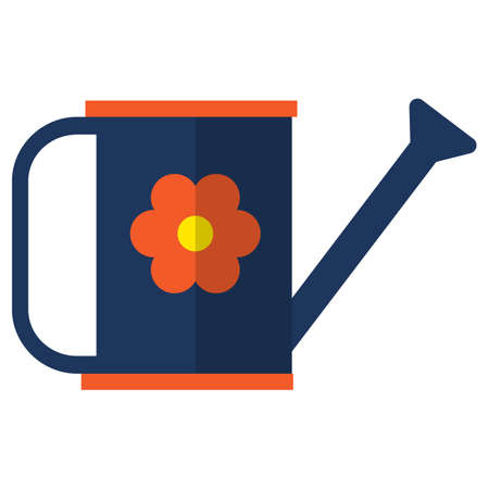 irrigation: The watering can icon, vector illustration flat style design isolated on white. Colorful graphics