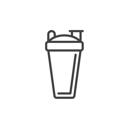 Sport shaker bottle line icon, outline vector sign, linear style pictogram isolated on white. Symbol, logo illustration. Editable stroke. Pixel perfect vector graphics