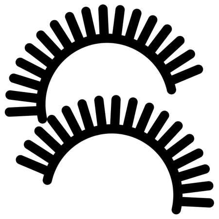 long eyelashes: Eye lashes for make-up icon, vector illustration flat style design isolated on white. Colorful graphics
