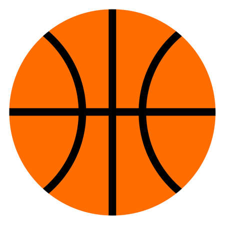 Basketball ball icon, vector illustration flat style design isolated on white. Colorful graphics