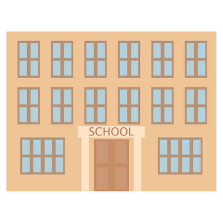 School building icon. Illustration