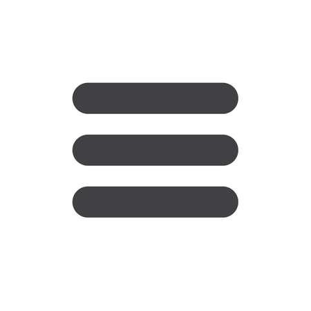 メニューのシンプルなアイコン ベクトルはいっぱいフラット記号、白で隔離塗りつぶしのグリフです。シンボル、ロゴの図。ピクセル完璧なベクト  イラスト・ベクター素材
