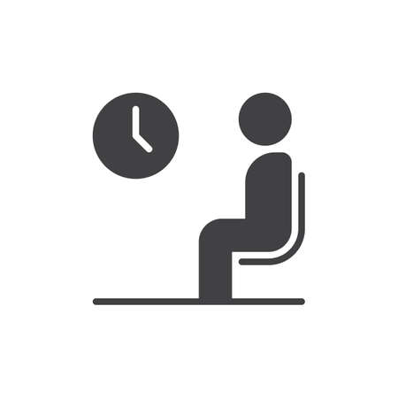 Waiting room icon vector, filled flat sign, solid pictogram isolated on white. Symbol, logo illustration. Pixel perfect vector graphics