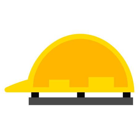 Safety helmet flat icon, vector sign, colorful pictogram isolated on white. Symbol, logo illustration. Flat style design Illustration
