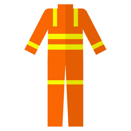 Lifejacket protective wear flat icon, vector sign, colorful pictogram isolated on white. Symbol, logo illustration. Flat style design Illustration